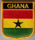 Ghana Embroidered Flag Patch, style 07.